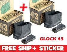 Strike Industries 2 Glock 43 Magazine Base Plate Enhanced Extension +2 Round EMP