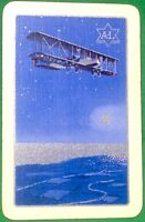 Playing Cards Single Card Old Named VIRGINIA Biplane Art Picture + ADVERTISING