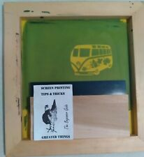 Screen Printing Frame With Image In Pic 13 By 12 Amp 12 1 And Squeegee