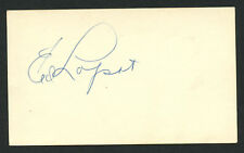Eddie Ed Lopat (d. 1992) signed autograph Baseball 3x5 Index Card 3060-23