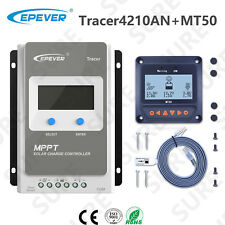 EPEVER Tracer 4210AN Solar Panel Charge Battery Controller 40A+ MT50 Remote