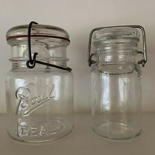 "Vintage Clear ""Ball IDEAL"" Mason Jar & Wheaton USA Jars"