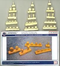 L'Arsenal Models 1/350 BOXES BARRELS & CABLE REELS SET Resin & Photo Etch Set