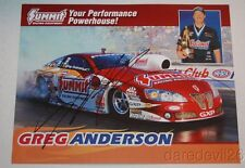 2009 Greg Anderson signed Summit Pontiac GXP Pro Stock NHRA postcard