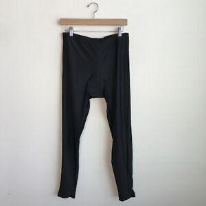 Canari Mens Padded Cycling Pants Tights Black Drawstring Waist Band Size XL