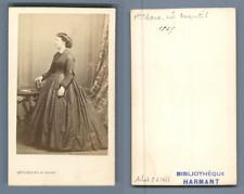 Levitsky, Paris, madame Bara, née Anquetil CDV vintage albumen carte de visite