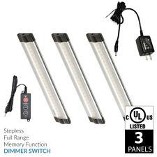 Lightkiwi T8668 6 inch Warm White LED Under Cabinet Lighting - 3 Panel Kit