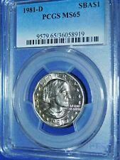 1981-D SBA$1 Susan B Anthony Dollar-PCGS MS65--441-10