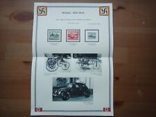 Germany Nazi 1939 Stamps Used Racing cars Automobiles Third Reich WWII German