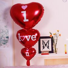 Foil Balloon Heart Shape I Love You Wedding Birthday Anniversary Helium Decor