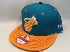 New Era Miami Heat NBA 2 Tone Turquoise 9FIFTY Snapback Hat Cap $30