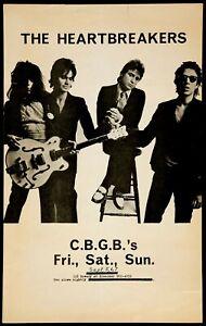 "THE HEARTBREAKERS live at CBGB 's 1975 repro 30x20"" concert poster punk FREE P&P"