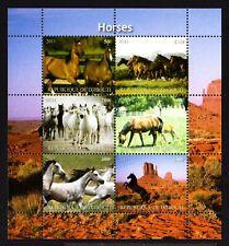 5 DJIBOUTI -2011.ANIMALS. Several breeds HORSES .BLOCK  MNH**.