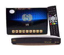 Genuine Skybox V8 HD Satellite Receiver S-V8 support 2xUSB Port USB Wifi WEB TV