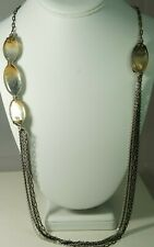 """Authentic BRIGHTON """"Shell Shimmer"""" Multi Strand Couture Statement LONG Necklace"""