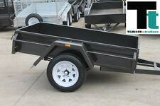 6x4 Australian Commercial Heavy Duty BOX TRAILER 750kg *NEW TYRES* + Spare Wheel