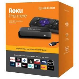 Roku Premiere HD 4K HDR TV Streaming  Media Player Netflix Amazon Prime HDMI NEW