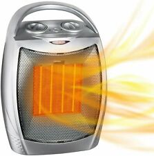 Portable Electric Space Heater with Thermostat, 1500W/750W Safe Quiet Ceramic
