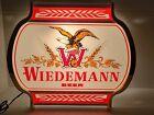 VINTAGE 1983 WIEDEMANN BEER LIGHTED SIGN -  G. HEILEMAN  BREWING LA CROSSE WISC