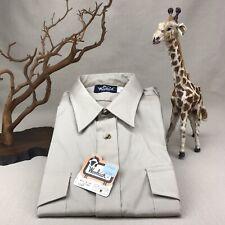 Woolrich Natural Vintage Xl Khaki Short Sleeve ButtonDown Shoulder Straps Safari
