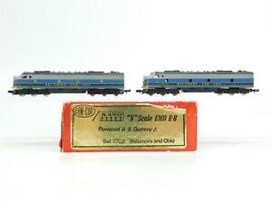 N Scale Con-Cor 2702 B&O Baltimore & Ohio E8 A/B Diesel Loco Set Does Not Run