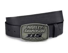 HARLEY-DAVIDSON® MEN'S 115TH ANNIVERSARY SCULPTED BELT BUCKLE & SIZE 34 BELT