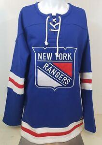 New York Rangers Breakaway Sewn Pullover Sweatshirt Hockey Jersey 2XL Fanatics
