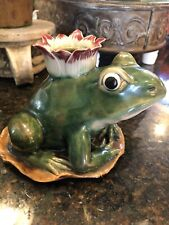 🐸 Chinese Earthenware Frog Candle Holder Frog Collectors