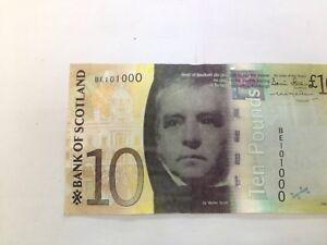 TEN Pound  NOTE 2007  Bank of  Scotland BE 101 000.POLICE NO. + Zeros