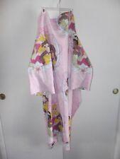 Disney Princess Snuggie Kid Girl Pink Blanket Robe Lounge Fleece Throw Bathrobe