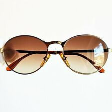 occhiali da sole CARRERA 5366 round oval sunglasses gold brown vintage 90 pantos