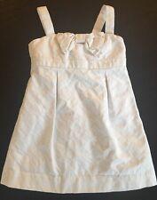 Girls Dress Size 4 Lilly Pulitzer  White Sundress Zip Back Lined 47599G