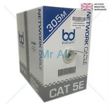 305M RJ45 CAT5E Network Ethernet LAN UTP 4 Pair ADSL Cable Roll Reel Box INDOOR