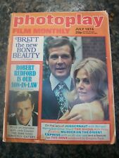 Photoplay Film Monthly - july 1974 - britt ekland roger moore robert redford
