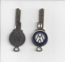 VW Bug Beetle Volkswagen key blank logo SU profile 1961 -1966 NOS gold accessory