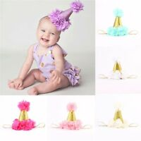 Girl Kids Baby Cute Flower Glitter Crown Headband Hair Band Headwear Accessories
