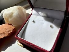 SECONDHAND 18ct WHITE GOLD 0.05ct DIAMOND STUD EARRINGS  FOR PIERCED EARS
