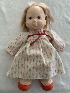 "Vintage 1973 Fisher Price 13"" Baby Ann Lap Sitter Doll #204 blonde"
