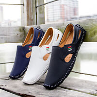 Loafers for Men Driving Shoes Loafers Casual Leather Stitched Slip On Shoes