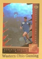 1994 World Cup USA Roberto Baggio #WC4 Player Of The Year Soccer Card