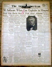 2 1929 headline newspapers CLEVELAND HOSPITAL CLINIC X-RAY FIRE disaster kills