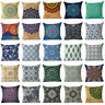 18'' Totem Mandala Cotton Linen Throw Pillow Case Cushion Cover Home Sofa Decor