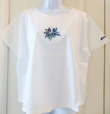 LOTTO Tennis Italiano Womens HUBER T-Shirt, White / Blue, Size XL, NWT