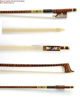 Master Snakewood Violin Bow Great Performance Master Craftsmanship#MI628