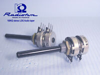 100KΩ stereo Log Audio Taper nos potentiometers Radiohm-France  x 4 PIECES