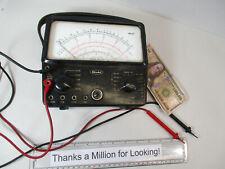 HIOKI Model A-10, Analog Multimeter Tester Multi Meter, 3' Probes, Vintage 1966