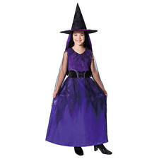 Jubilee Witch Halloween Costume Girls Medium Dress Witch Hat Trick or Treat NWT