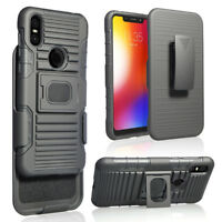 Shockproof Hybrid Stand Holster Hard Armor Case Cover For Motorola one/P30 Play