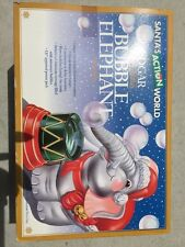 Edgar The Bubble Blowing Elephant Santa's Action World Ornament - NIB