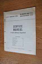 HMV 682 Marconiphone 864 4 valve battery superhet Genuine Vintage Service Manual